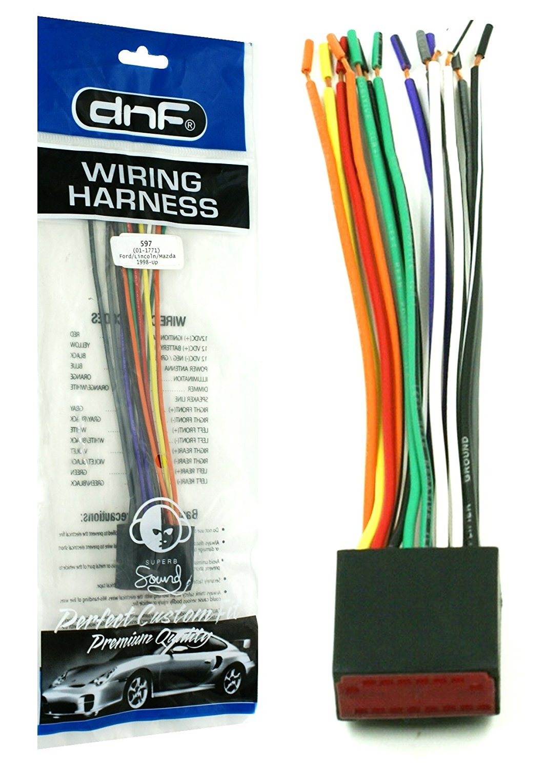 hight resolution of dnf wiring harness for factory stereos radios for select ford lincoln mazda vehicles