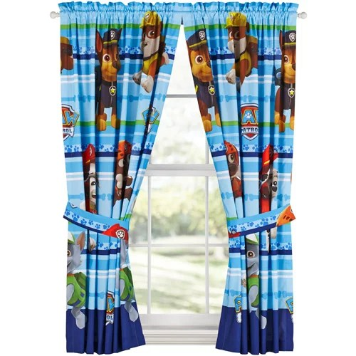 Paw Patrol Puppy Dog Fun Kids Bedroom Curtains  Walmartcom