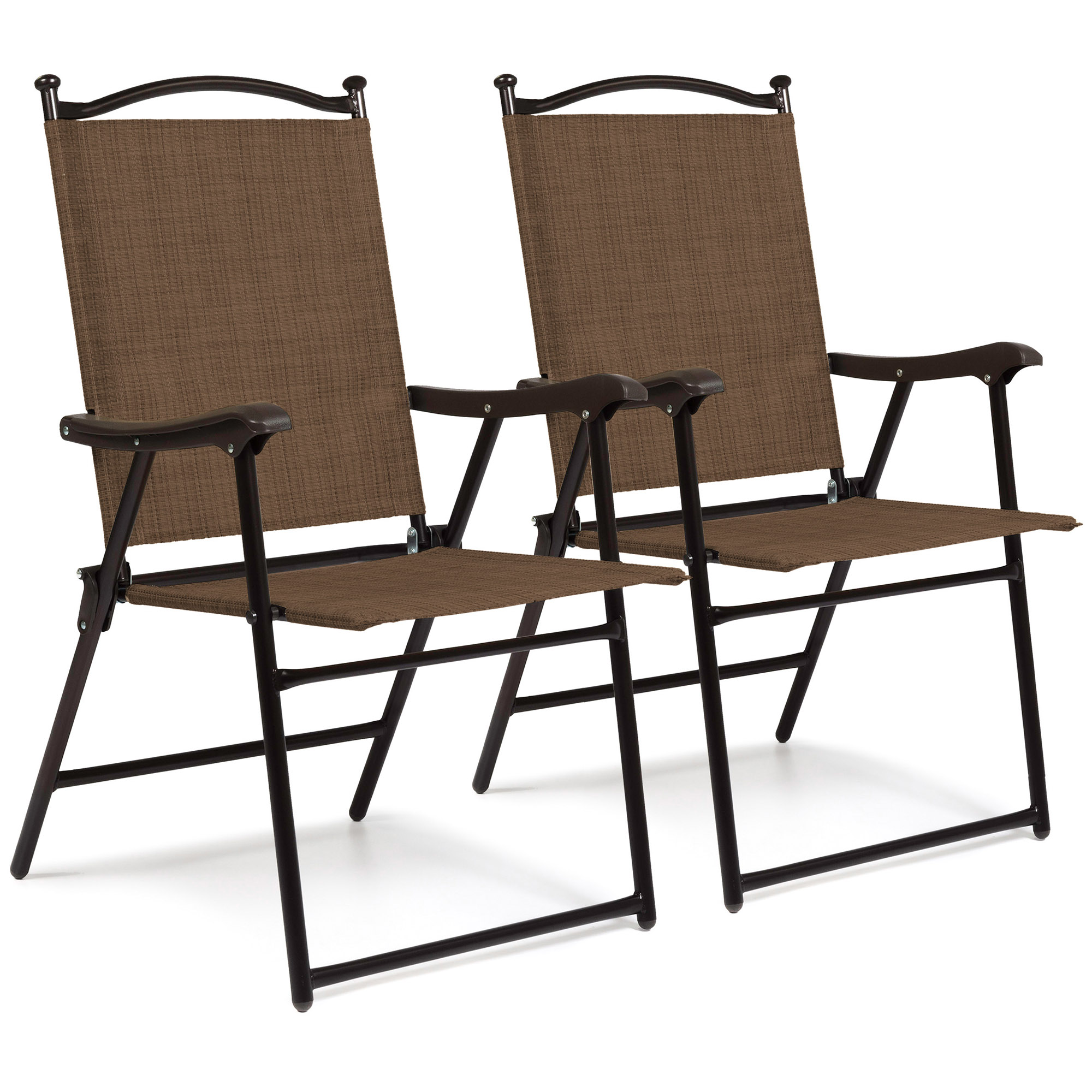 Mesh Patio Chairs Best Choice Products Set Of 2 Outdoor Mesh Fabric Portable
