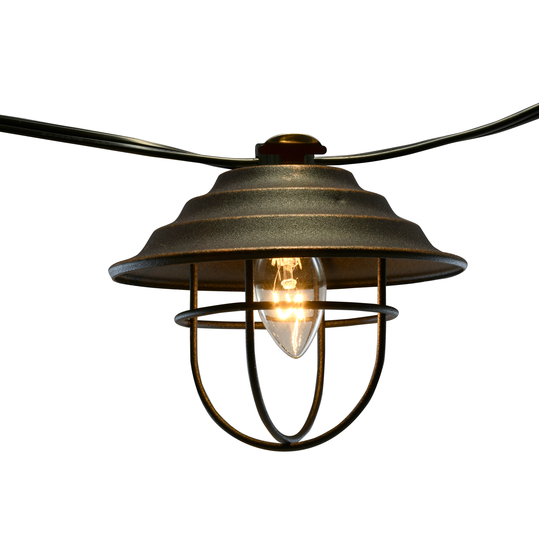 lumabase metal cafe bronze string lights 10 count