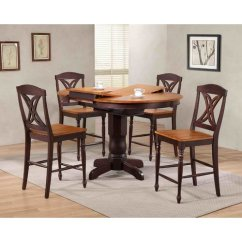 Rubberwood Butterfly Table With 4 Chairs Black Chair Mat Iconic Furniture Back Counter Height 5 Piece Pub Set Walmart Com