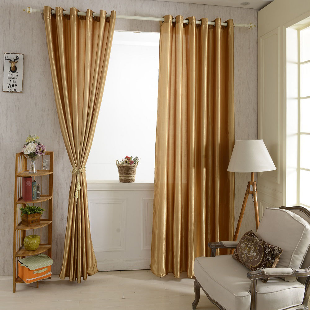 anself 2pcs 100 250cm grommet blackout curtain linings panel solid bright colored window curtains soft window drape classy window treatments size