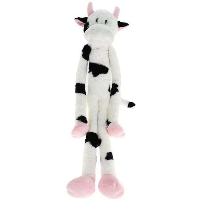 "Multipet Swingin Slevins Plush Dog Toy, 30"", Cow"