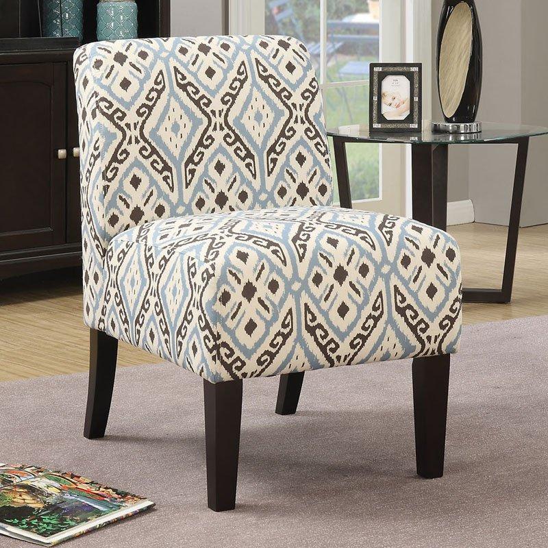 ACME Ollano Fabric Slipper Chair Multiple Patterns