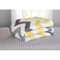Mainstays Yellow Grey Chevron Bed in a Bag Bedding ...