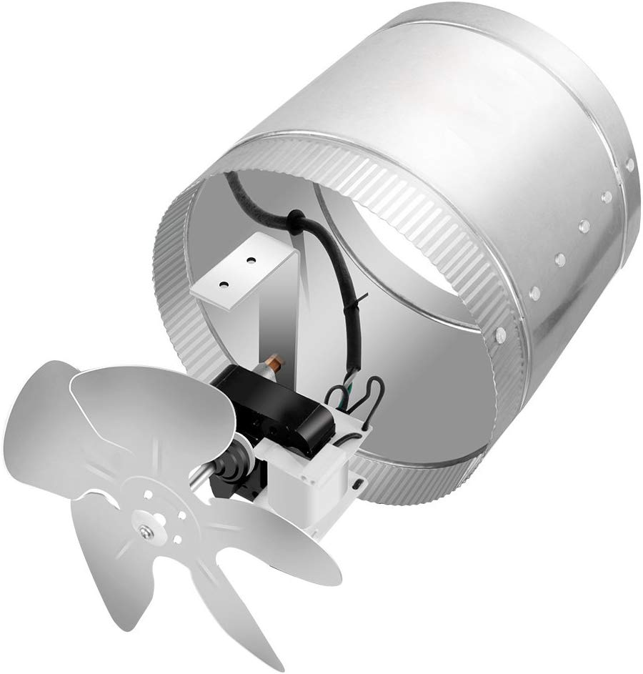 ipower 6 inch 240 cfm inline duct booster fan extractor exhaust and intake vent fan 5 5 grounded power cord