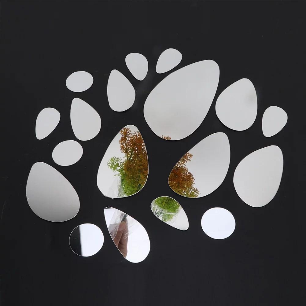 lhcer miroir acrylique decoratif ovale sticker mural maison bricolage milieux sans cadre decor miroirs miroir sans cadre miroir decoratif