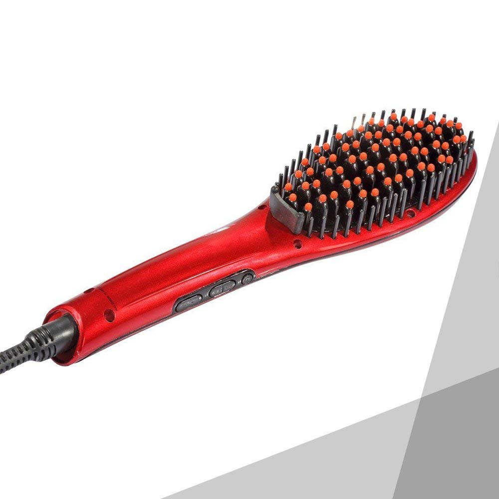 heating hair straightener styling