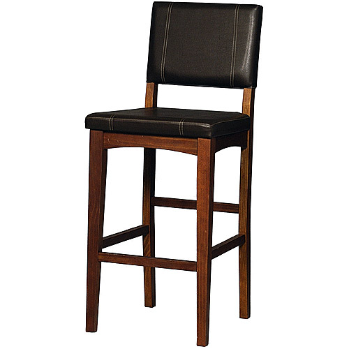 Linon Milano Bar Stool, Brown, 30 inch Seat Height