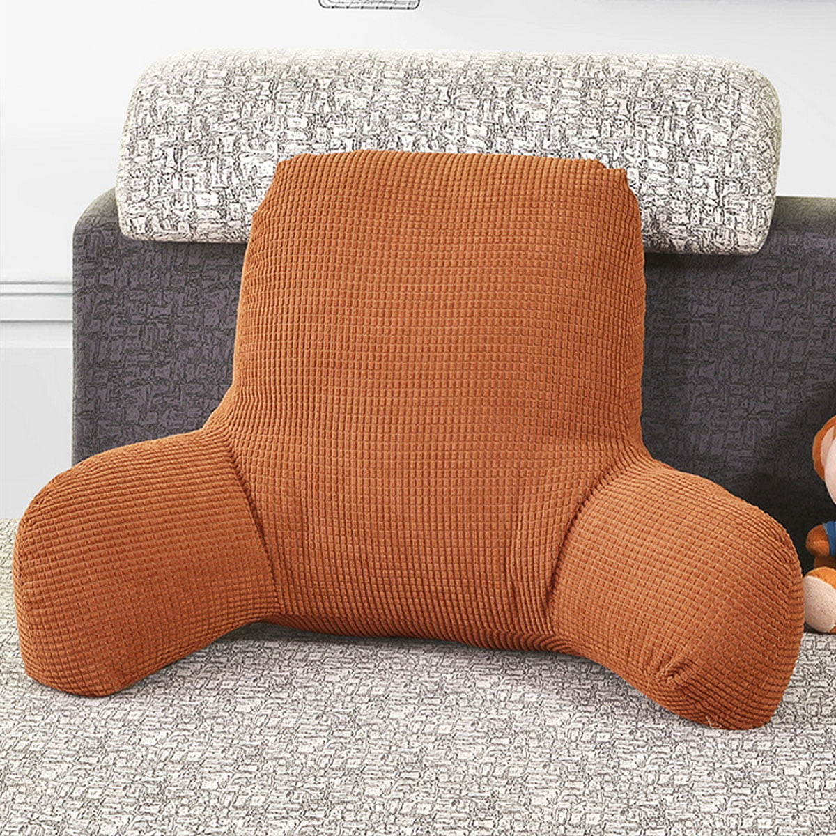 Comfort Micro Bed Rest Reading And Bedrest Lounger Sitting Support Pillow Soft But Firmly Stuffed Pp Cotton Fill Backrest Pillow With Arms Walmart Canada