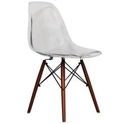 Eiffel Chair Wood Legs Western Print Clear Modern Style Side With Walnut Dining Room Lounge No Arm Chairs Seats Wooden Dowel Leg Legged