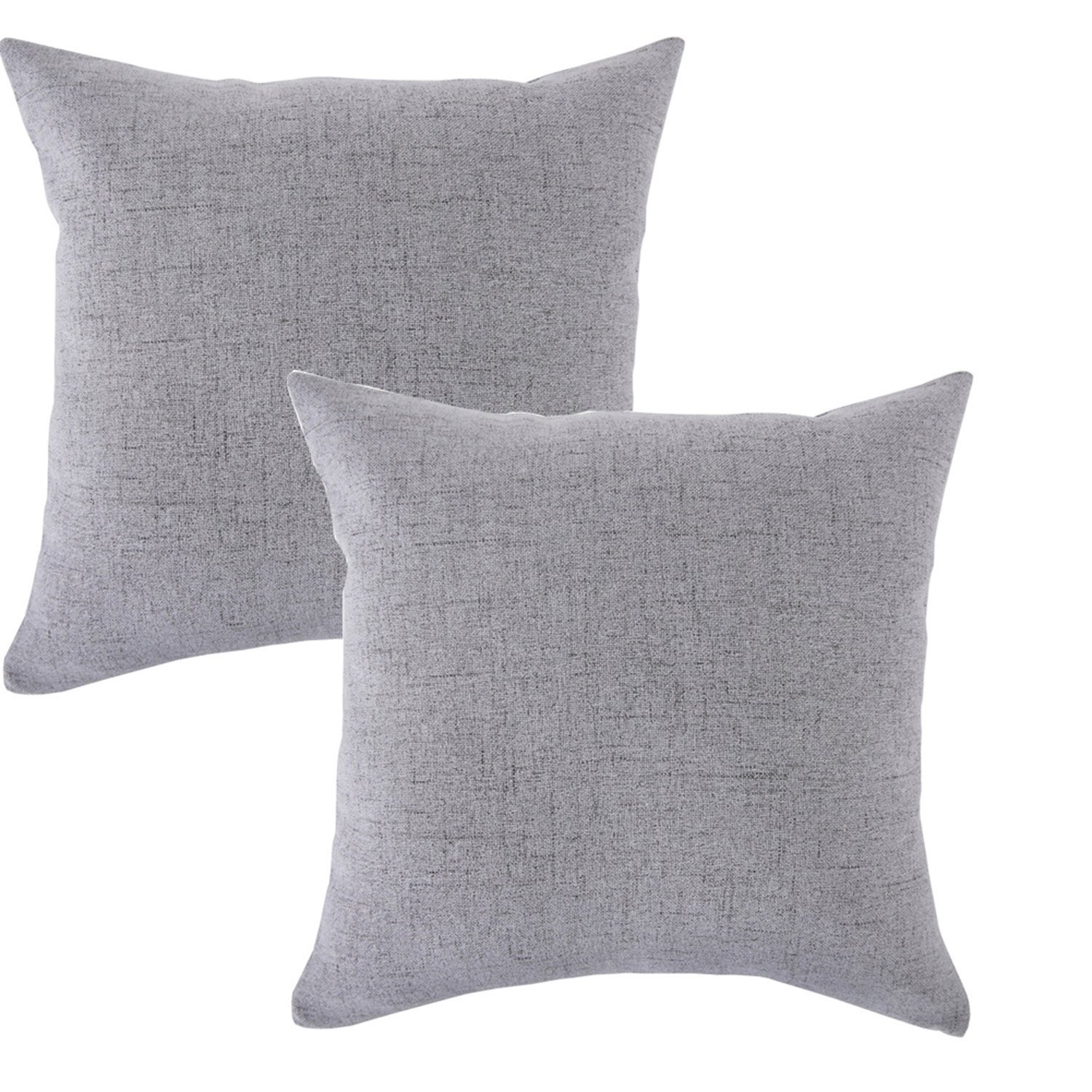 Linen Pillow Covers 20 x 20 Inch Sets of 2 Decorative