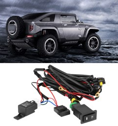 12v universal car led fog light on off switch wiring harness fuse relay kit on off switch relay on off switch wiring walmart com [ 1001 x 1001 Pixel ]