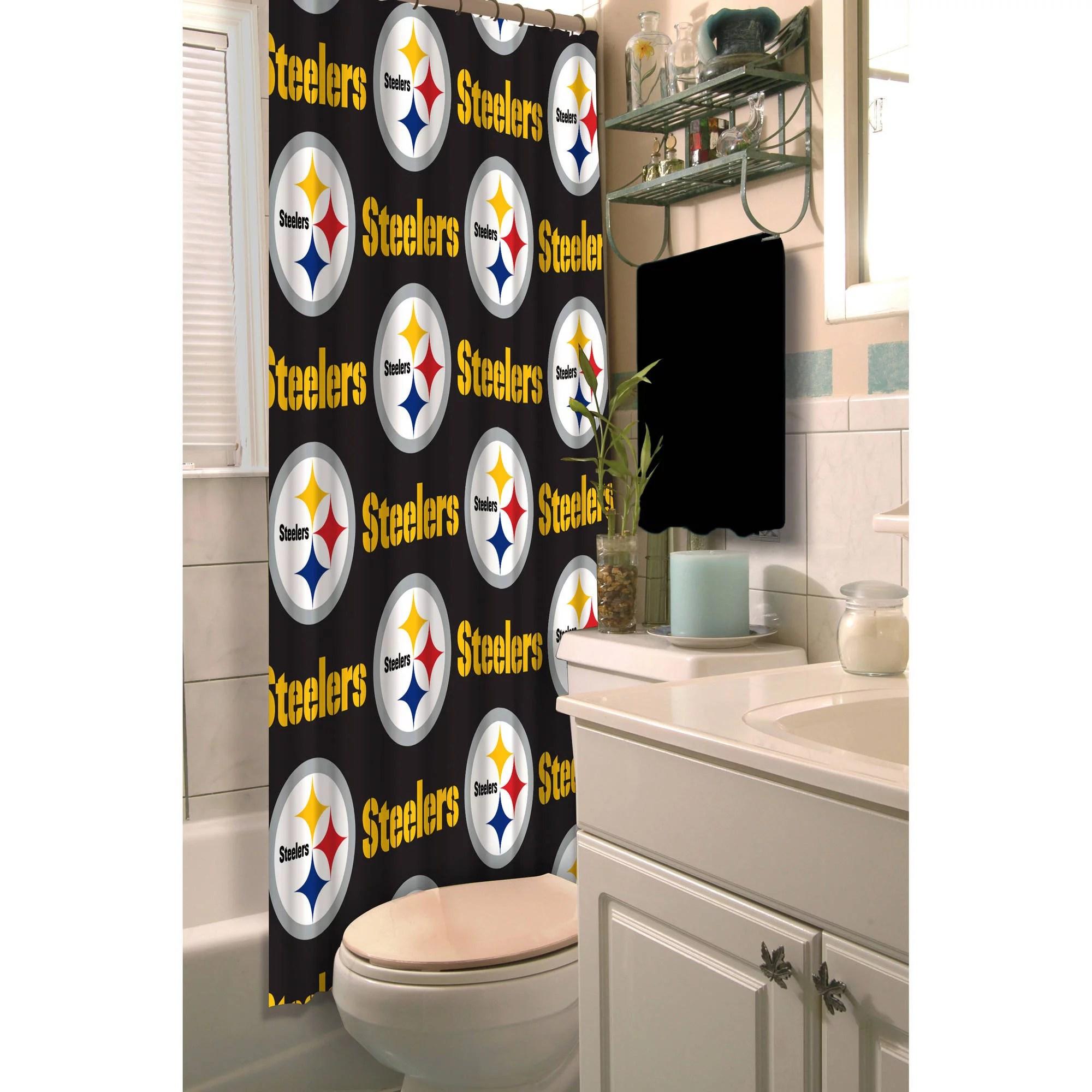 nfl pittsburgh steelers shower curtain 1 each walmart com