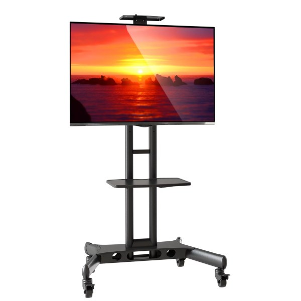 Mount Factory Rolling Tv Cart Mobile Stand 40-65 Flat Screen Led Lcd Oled Plasma