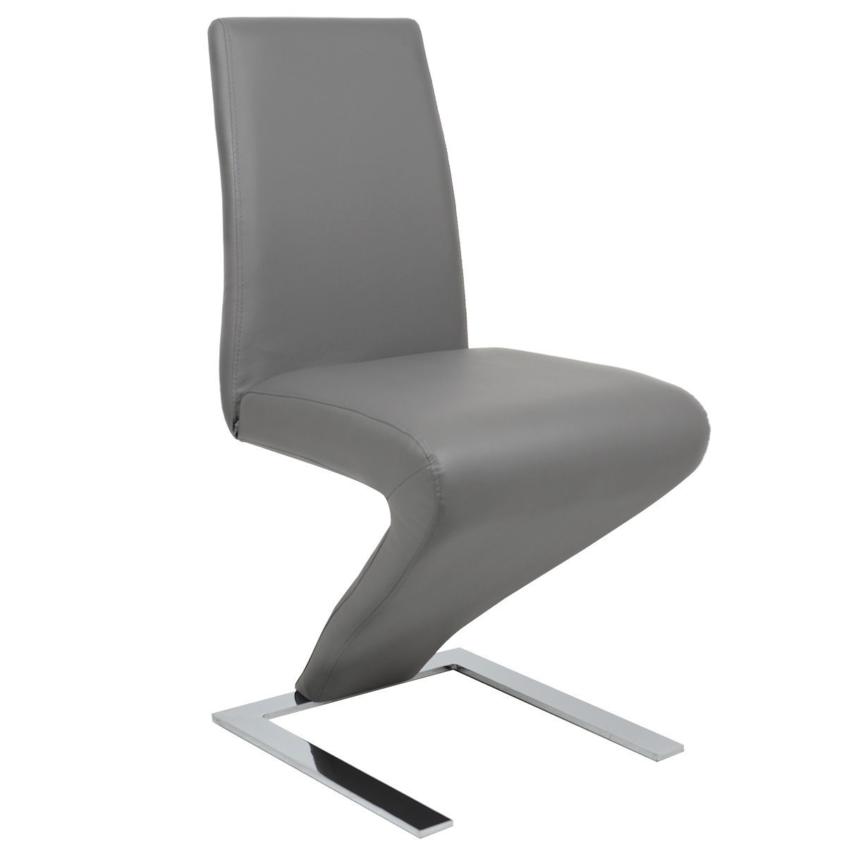 z shaped high chair revolving back goplus pu leather dining zigzag home room furniture gray
