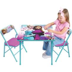Activity Table And Chair Set Mainstays Xl Zero Gravity With Side Canopy Disney Frozen Walmart Com Departments