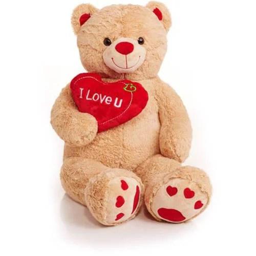 Jumbo Valentines Teddy Bear With I Love You Heart