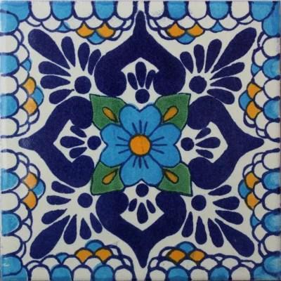 2x2 montijo talavera mexican tile set of 36 pcs