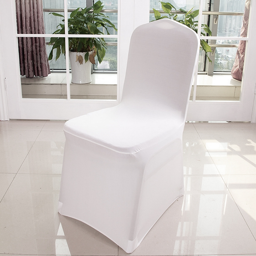chair covers wedding buy roller walker transport 100 pcs banquet white spandex for party walmart com