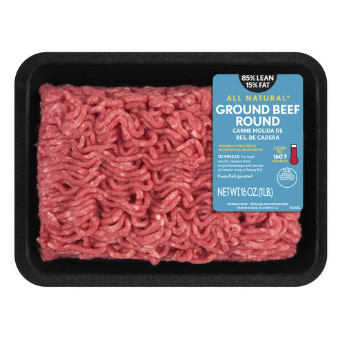 85 Lean 15 Fat Ground Beef Round Tray 1 Lbs Walmartcom
