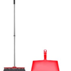 Kitchen Broom Appliance Packages Costco Fuller Brush Fiesta Red Complete With Clip On Dustpan