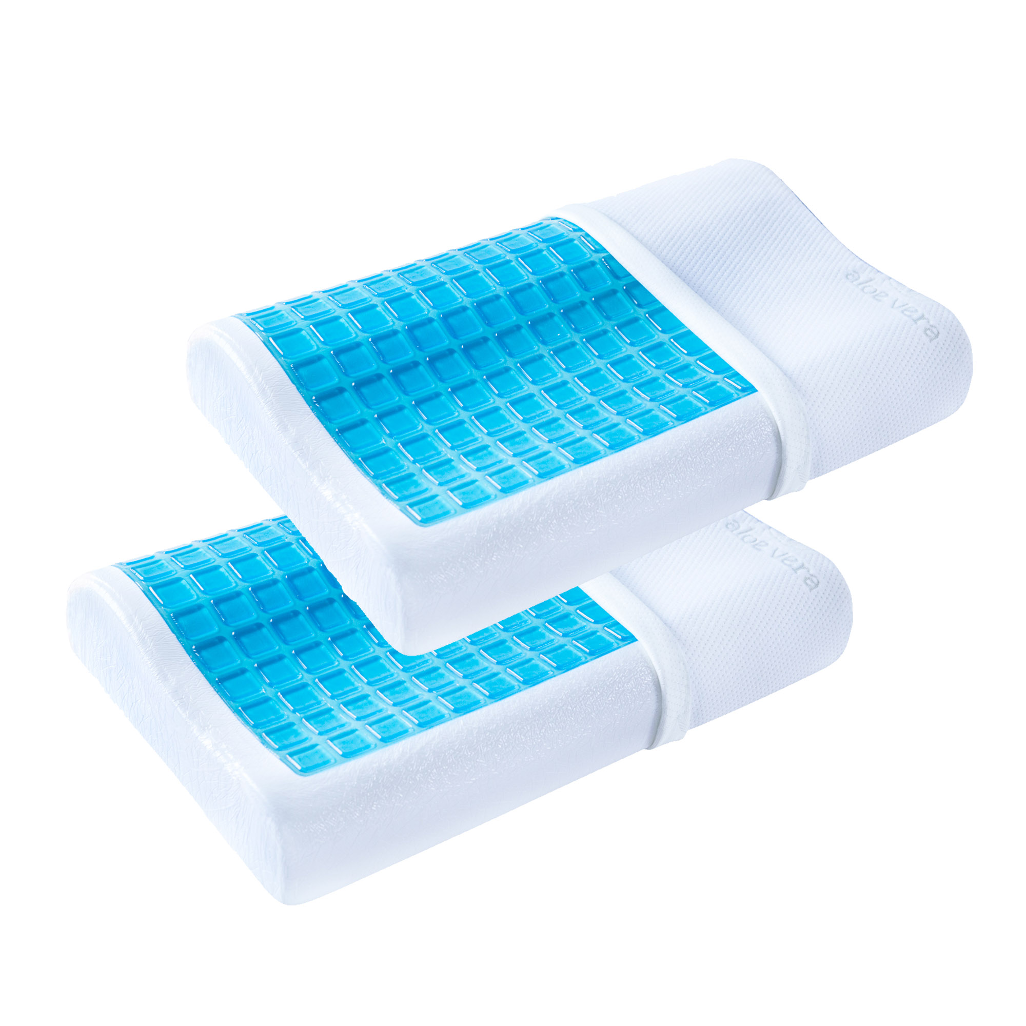 2 Pack  PharMeDoc Contour Memory Foam Pillows with