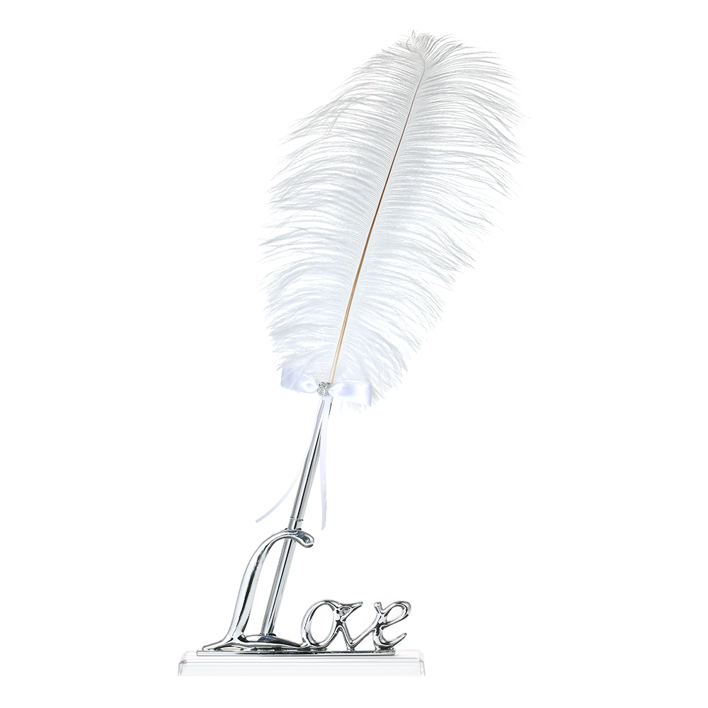 retro style white feather