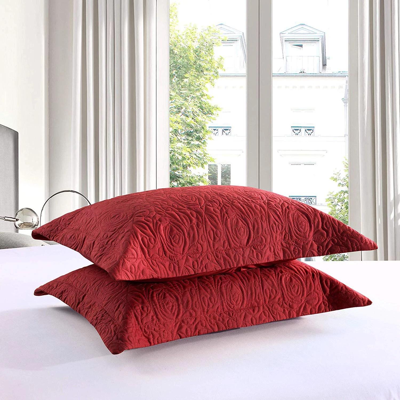 red pillow shams walmart