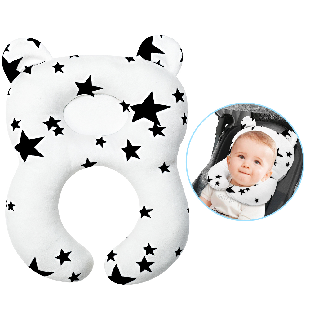 stroller pillow head and body support with neck support for baby car seat and strollers star