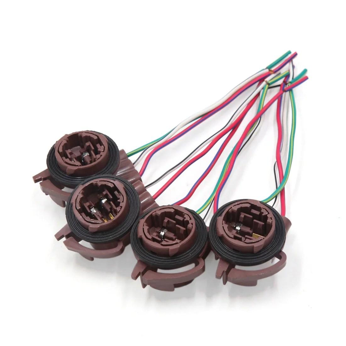 medium resolution of 4pcs 3157 4157 brake light lamp bulb wiring harness socket connector for car walmart canada