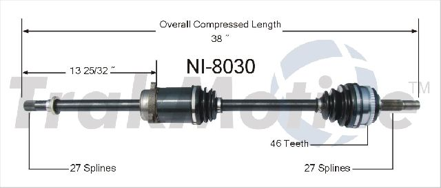 OE Replacement for 1989-1994 Nissan Maxima Front Right CV