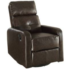 Walmart Glider Chair Pop Up Chairs Monarch Recliner Swivel / Brown Bonded Leather - Walmart.com