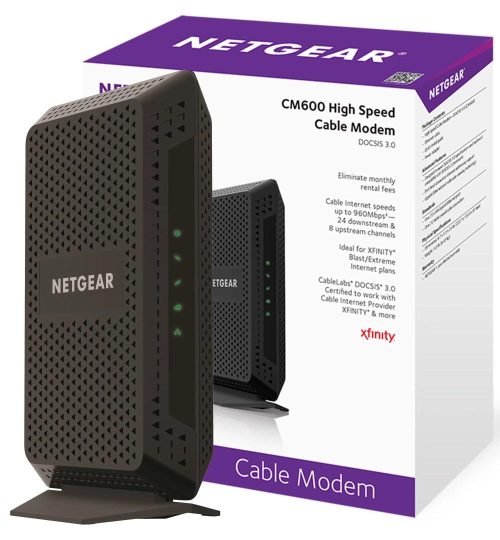 medium resolution of netgear cm600 24x8 cable modem no wifi docsis 3 0 certified for xfinity by comcast spectrum cox more cm600 100nas walmart com