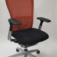 Haworth Zody Chair Large Bean Bag Chairs Mesh Back Fully Adjustable Model In Orange Black Executive Office Walmart Com