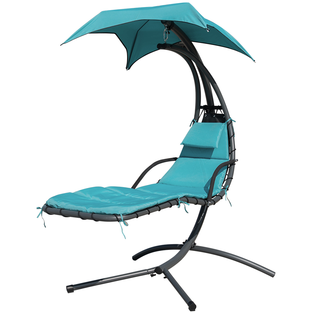 hanging hammock lounge chair posture task finether chaise outdoor indoor swing with arc stand canopy and