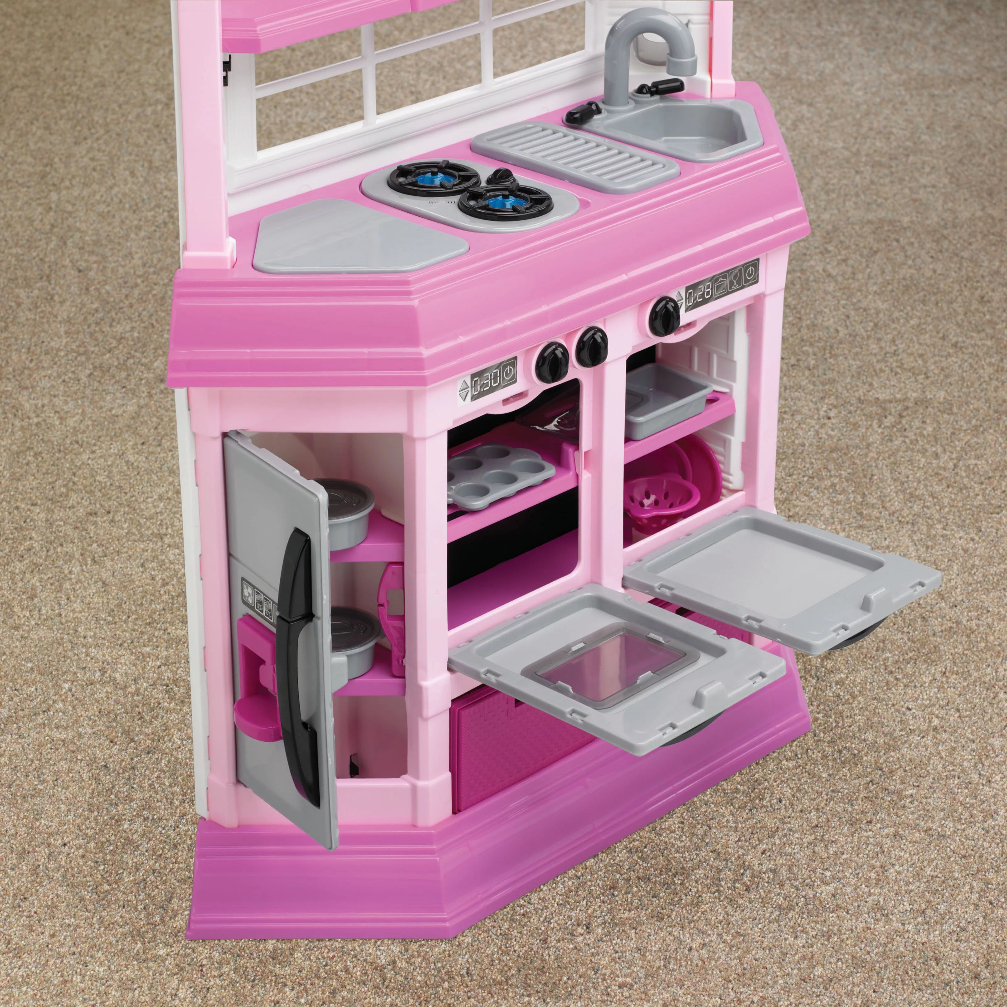 kitchen set for girl buy old cabinets pretend play kids cooking bake food toy