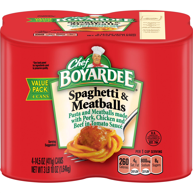 Chef Boyardee Spaghetti and Meatballs 145 oz 4 Pack