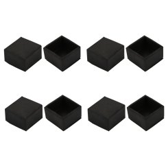 Patio Chair Leg Caps Rectangular Anywhere Slipcover 8pcs Furniture Desk Rectangle Rubber Cap Cover