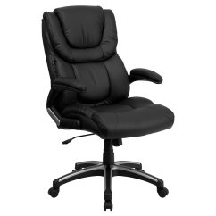 Black Leather Office Chair High Back Set Of 4 Dining Chairs Flash Furniture Executive Walmart Com