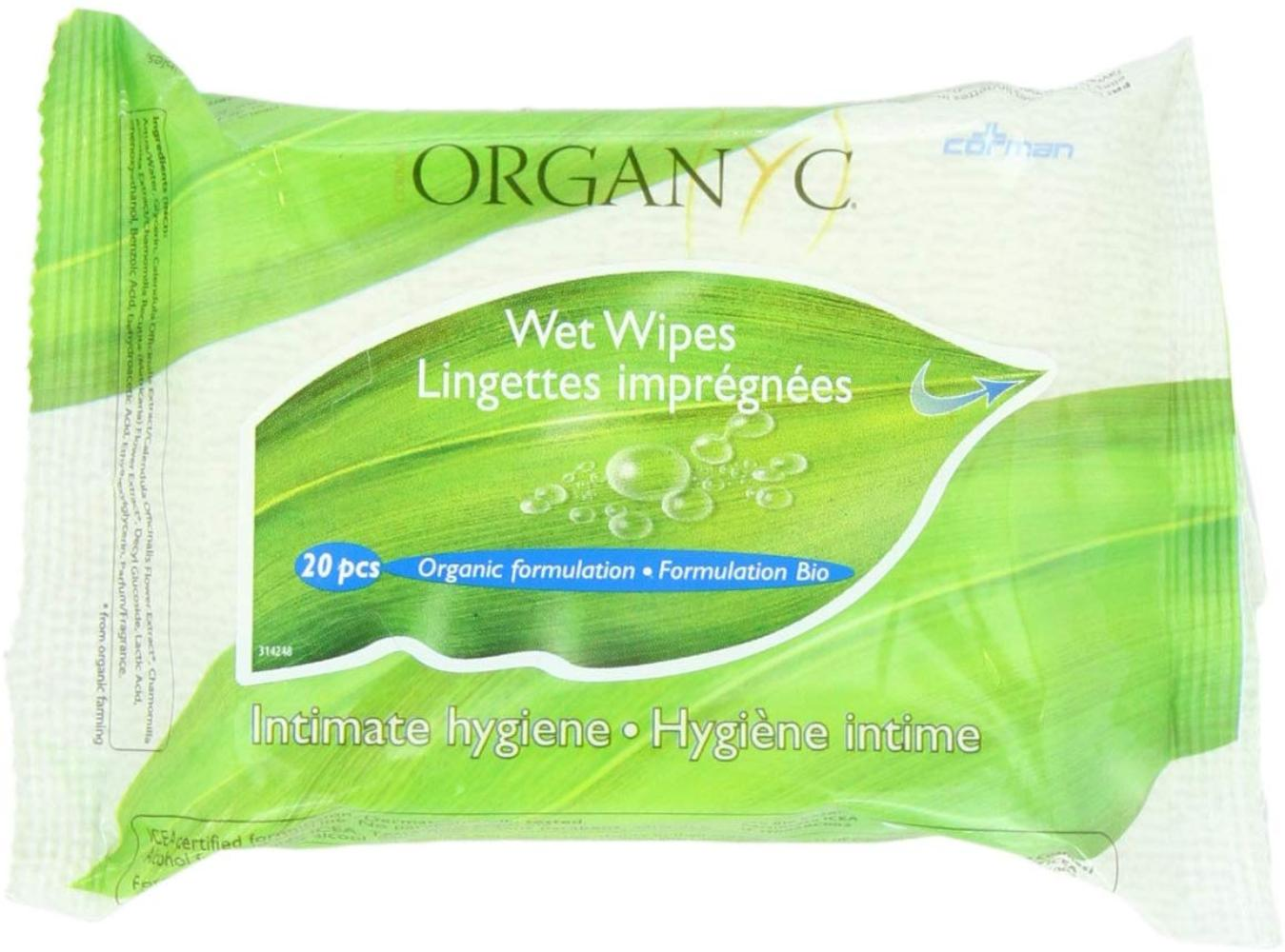 100% Organic Cotton Feminine Hygiene Wipes 20-count ...
