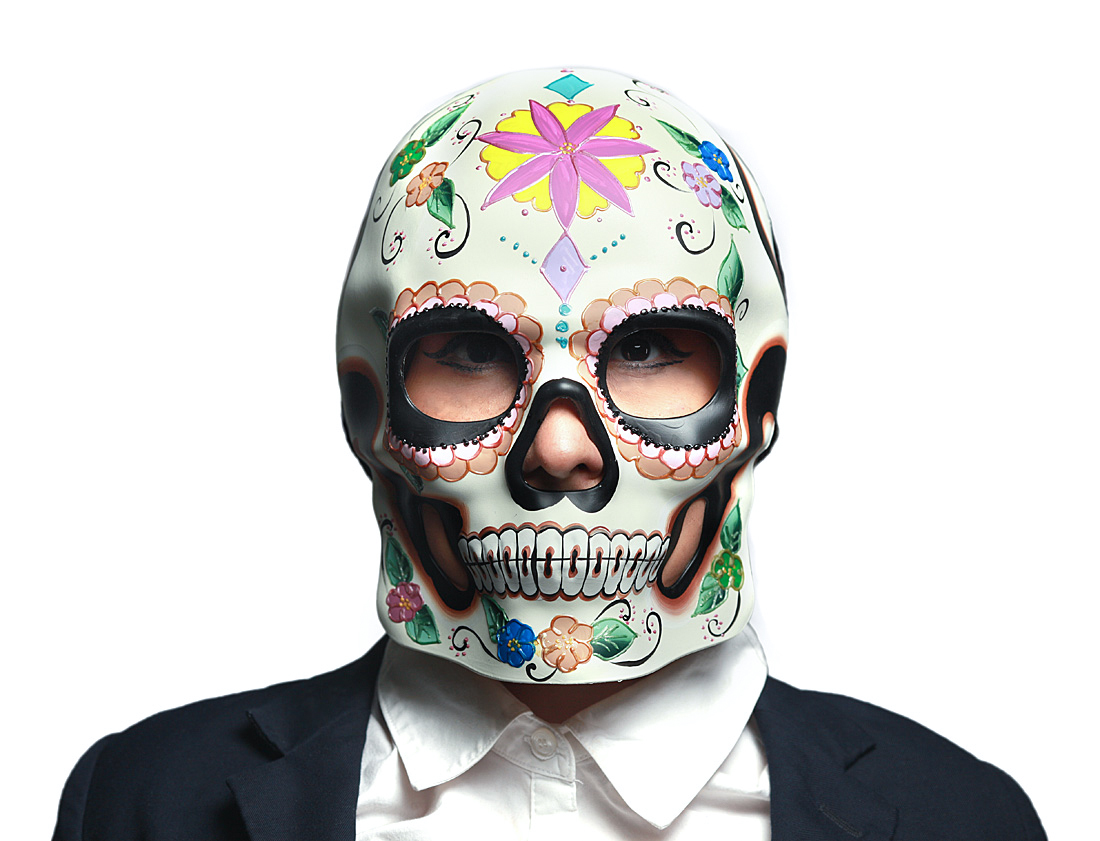 Colorful Floral Design Day Of The Dead Sugar Skull Costume Mask Wall Hanging Halloween Walmart Canada