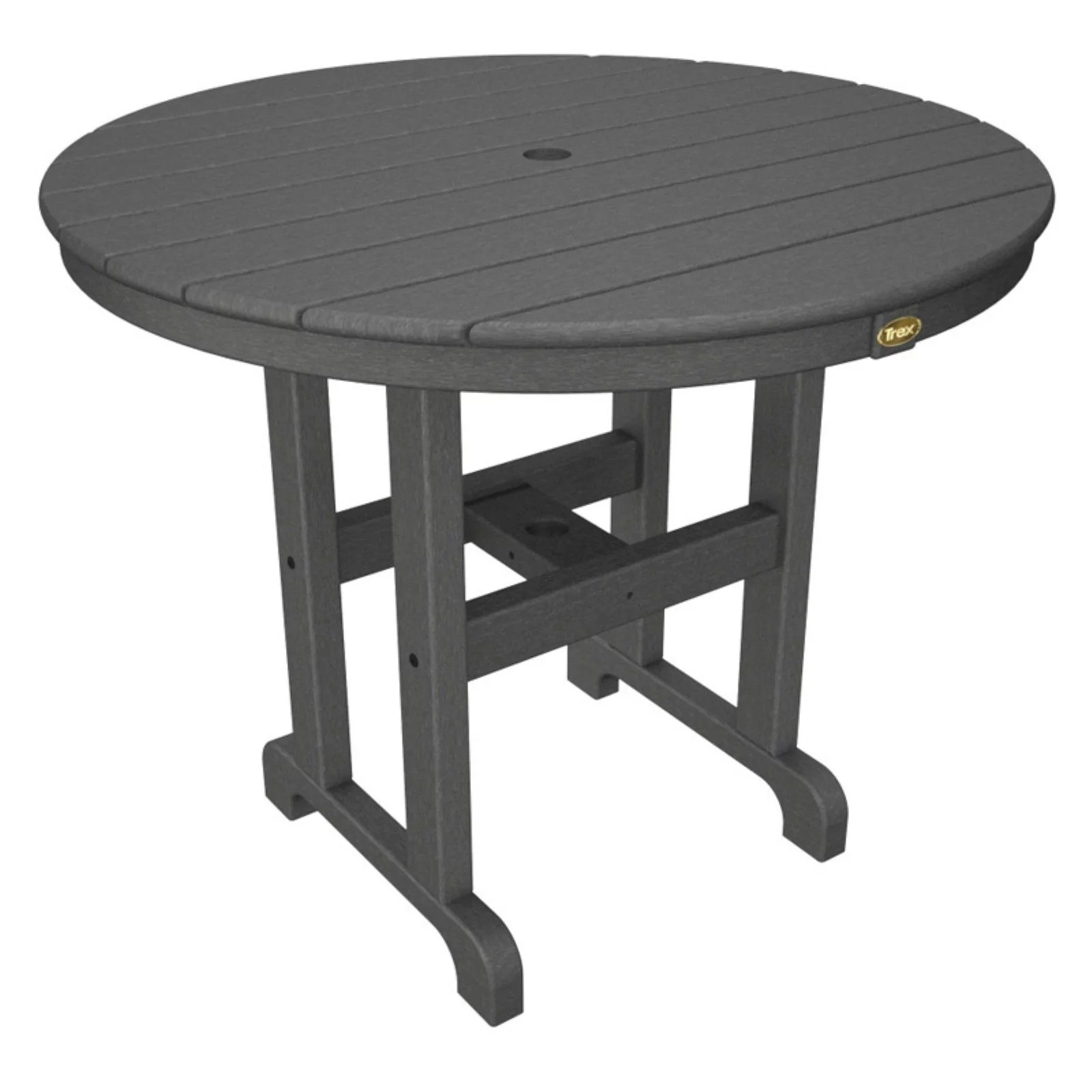 trex outdoor furniture recycled plastic monterey bay round patio dining table