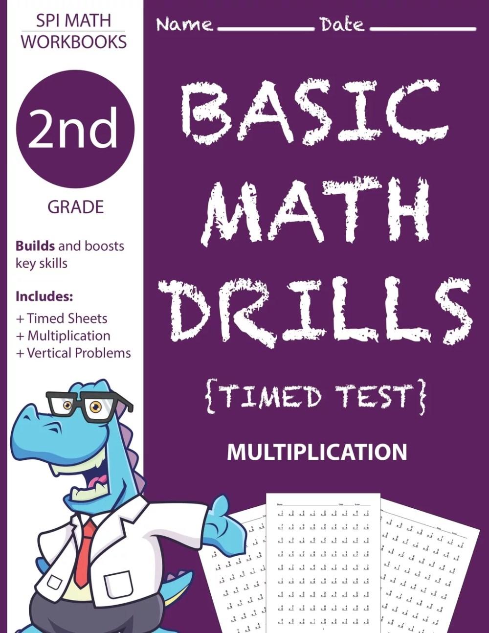 medium resolution of 2nd Grade Basic Math Drills Timed Test : Builds and Boosts Key Skills  Including Math Drills and Vertical Multiplication Problem Worksheets . (SPI  Math Workbooks) (Volume 4) - Walmart.com - Walmart.com