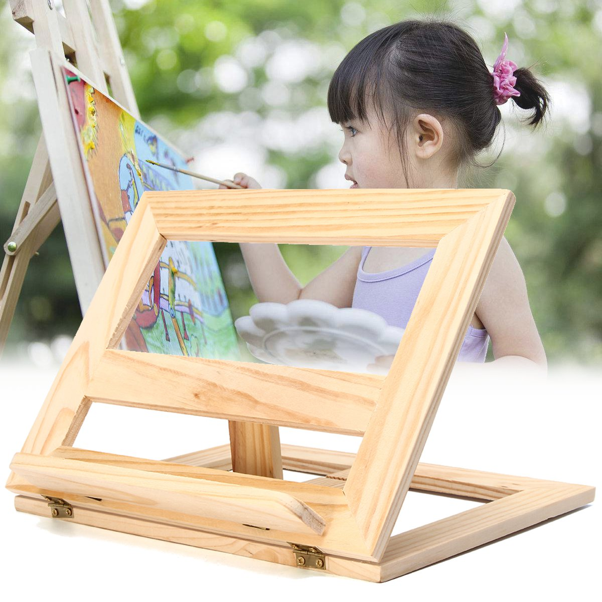 wooden easel foldable book