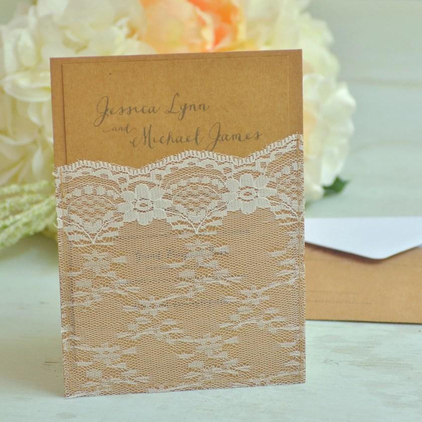 Gartner Studios Botanical Kraft Invitation Kit 81381 Wedding Invite And Stationery