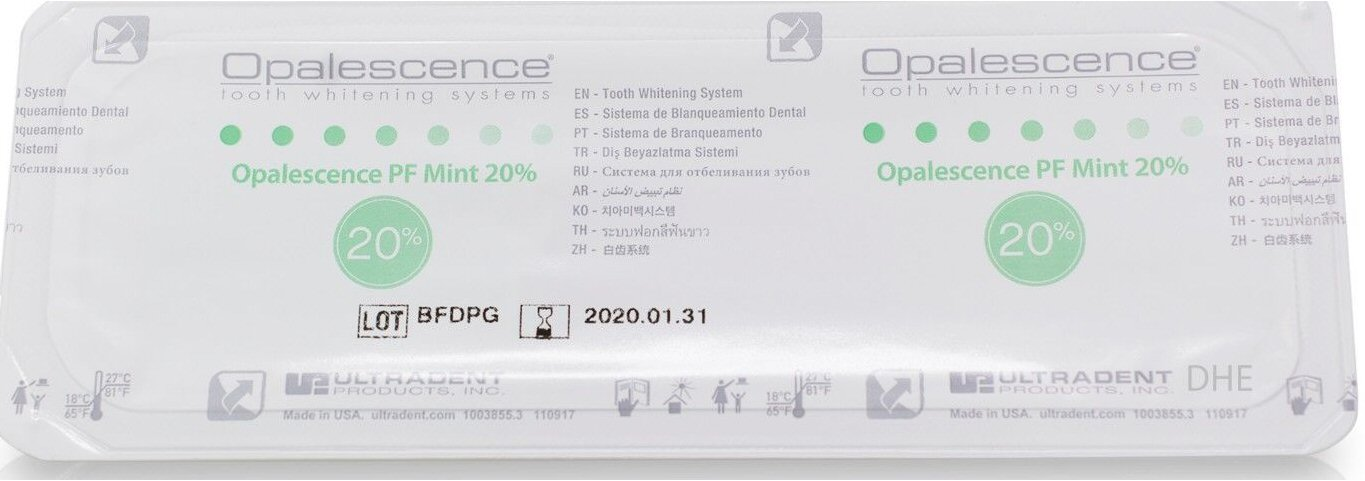 opalescence pf 20 carbamide peroxide