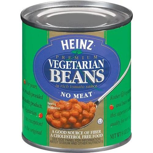 Heinz Vegetarian Beans In Tomato Sauce 8 oz Pack of 12