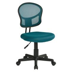 Mesh Task Chair Outdoor Folding Table And Chairs Blue Fabric Walmart Com