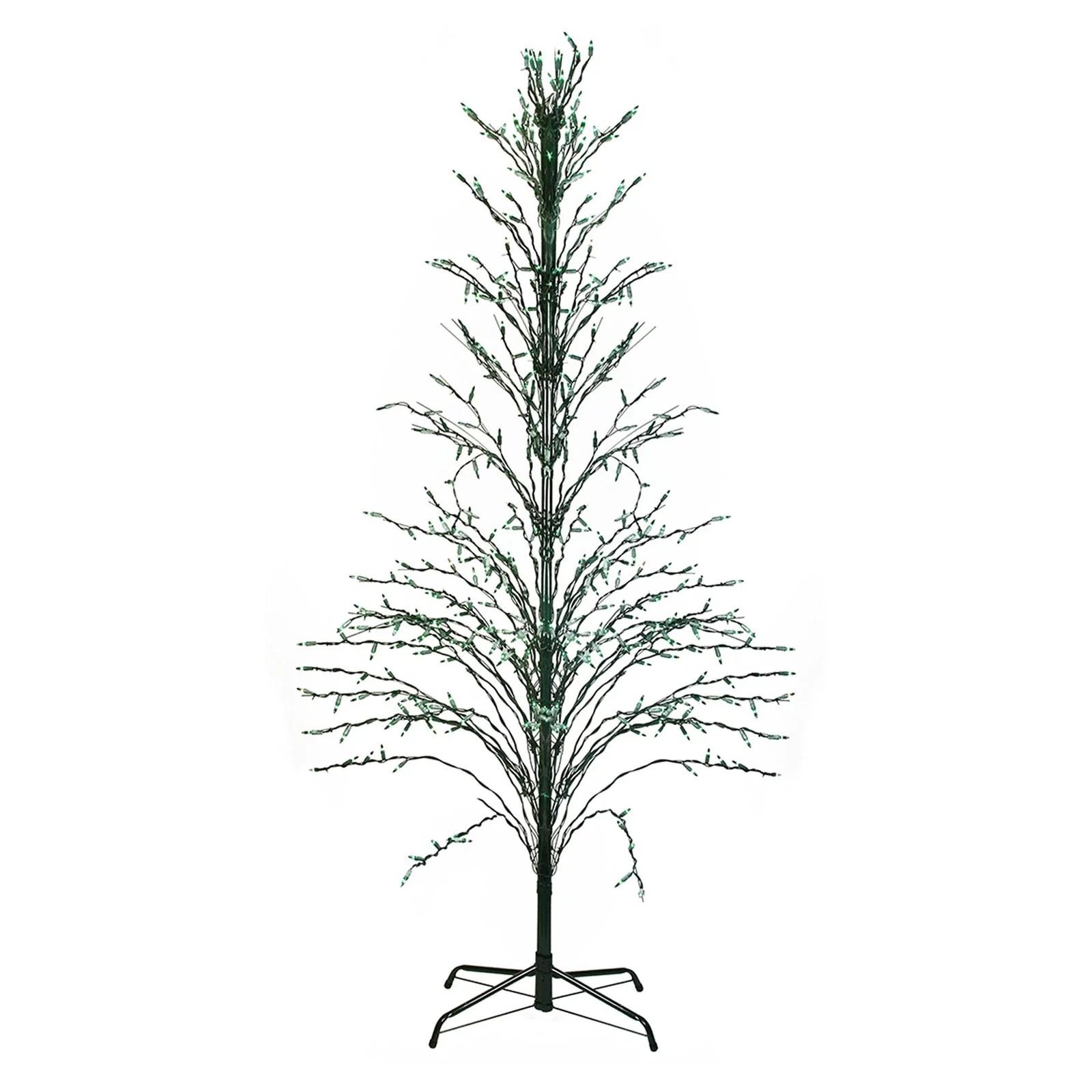 Northlight 6 ft. Green Lighted Christmas Cascade Twig Tree